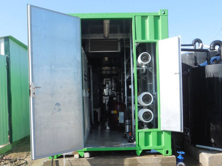 Osmose inverse directe en conteneur